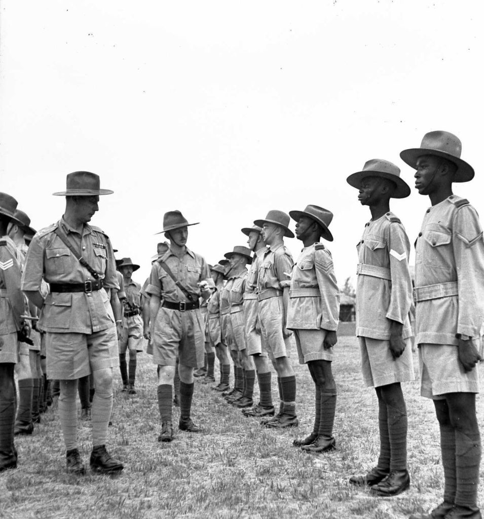 Troop Inspection, Nigeria. Photo courtesy of Jill Hopwood