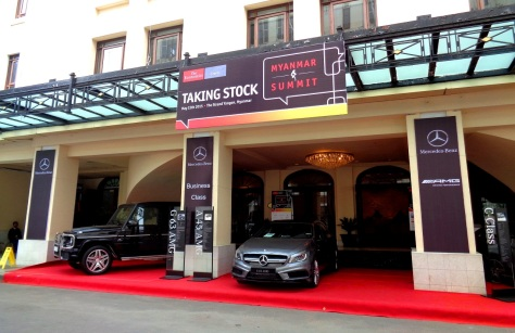 The event was sponsored by Mercedes. Nice.
