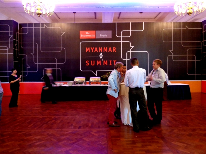 The Economist's Myanmar Summit was held on 15 May 2015 in Yangon.