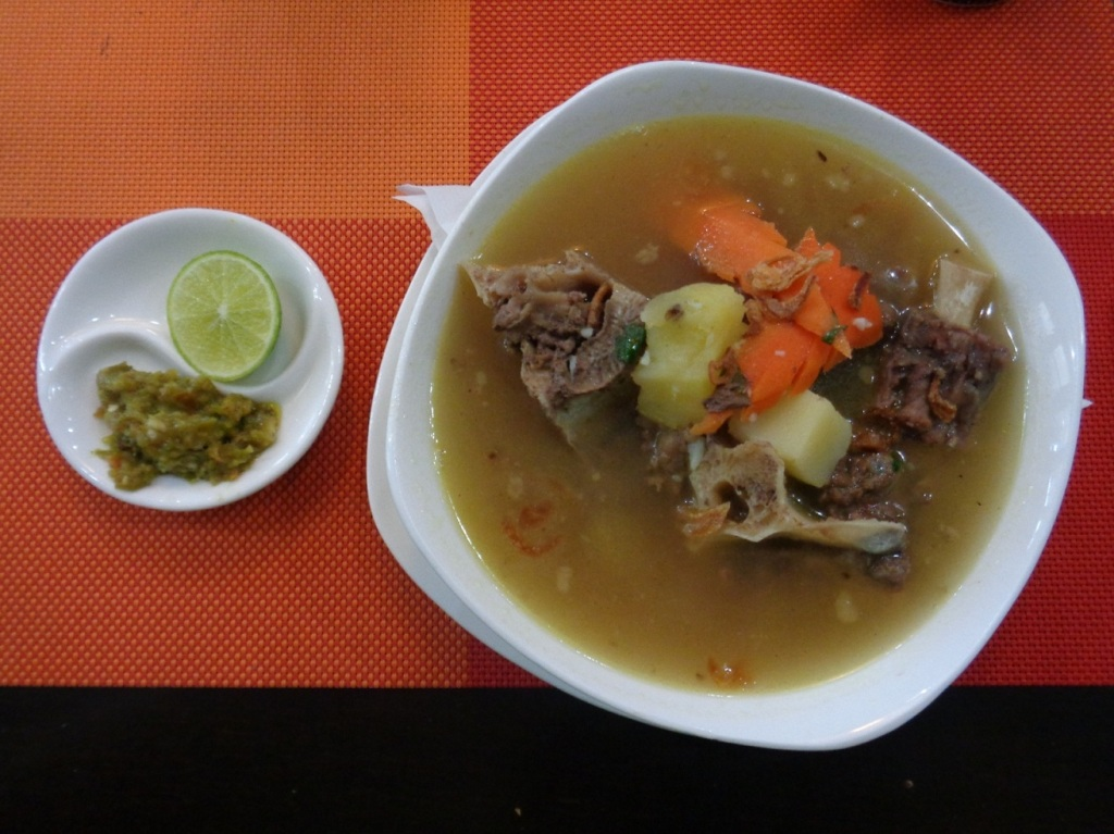Delectable oxtail soup