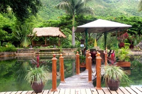 The lower decking of Aythaya's Sunset Garden Restaurant