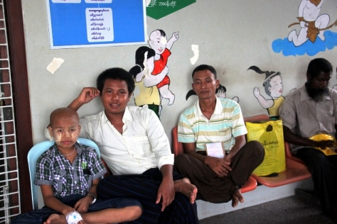 Yangon's Children's Hospital and Mandalay Children's Hospital are the only two places in Myanmar where children can receive cancer treatment.