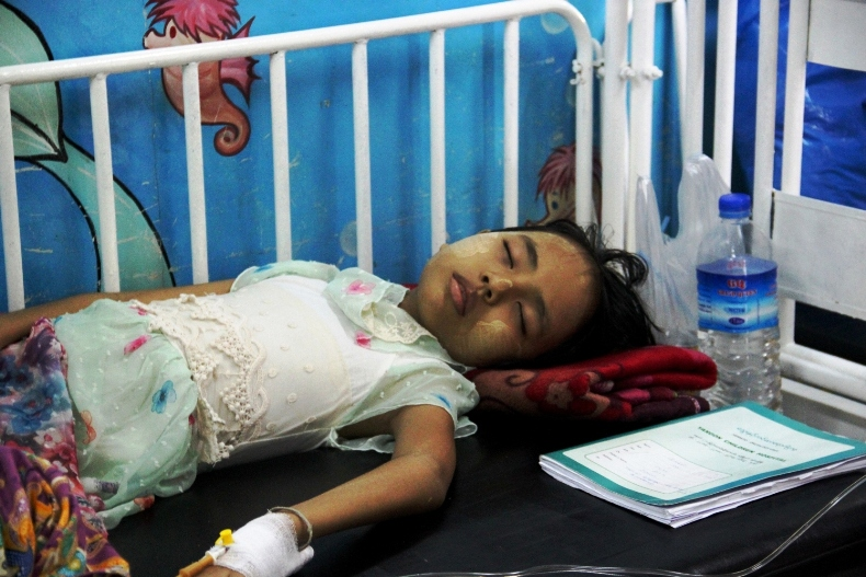 Survival rates for childhood cancer in Myanmar are far lower than those in developed countries.