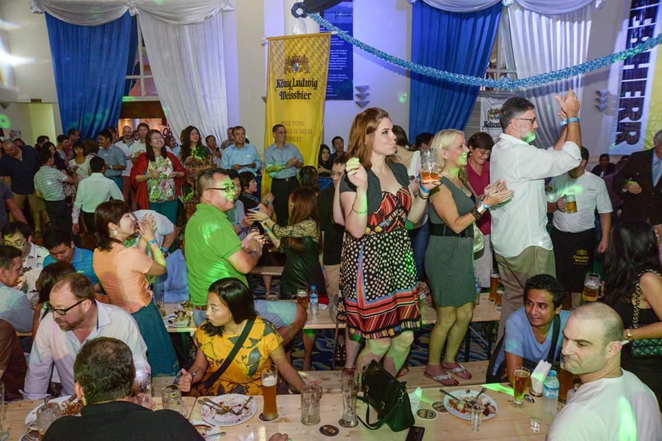 Fun, fun, fun - I found myself dancing on a table (not a usual habit of mine...) Photo: Aung Naing Oo