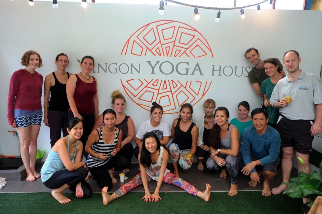 Everyone gets the yoga glow after a class at Yangon Yoga House. Photo supplied by Yangon Yoga House