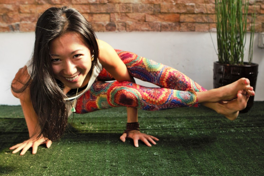 American expat Jojo Yang doing what she does best. Photo supplied by Yangon Yoga House