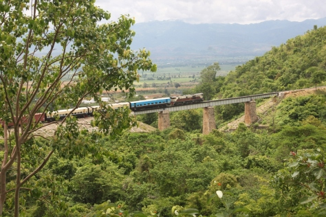 This railway bridge dates back to the British colonial era.