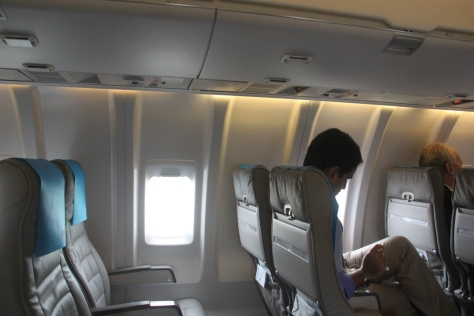 Onboard an FMI Air flight. Photo: Jessica Mudditt