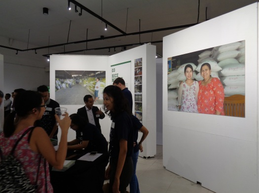 The launch was held at Yangon Gallery