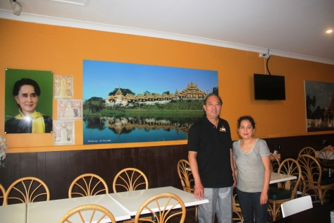 Sunny Myint Aung and his wife Lyn at Sun's Burmese Kitchen